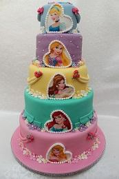 Disney Princess 5 Tier Birthday Cake