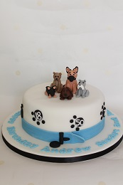 Spitfire Birthday Cake Dog Themed